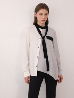 Brand Name: Amii Material: Polyester Material: Spandex Clothing Length: REGULAR Age: Ages 18-35 Years Old Collar: Bow Gender: WOMEN Sleeve Length(cm): Full Sleeve Style: REGULAR Style: Office Lady Pattern Type: Patchwork Model Number: 12020230