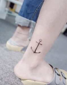 Perfect anchor tattoo by Banul