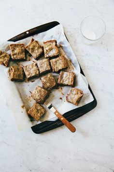 chocolate hazelnut gianduja blondies - Hummingbird High - A Desserts and Baking Food Blog in San Francisco