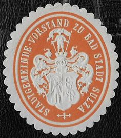 + 1871 Bad Sulza Thuringia German States Arms Embossed Official Envelope Seal MH
