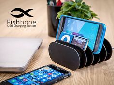Cables can be a total nightmare when you're charging multiple devices at one time (and who isn't?). But this charging station features multiple USB plug-ins on the back, and cords can wrap around the middle, so items sit in each compartment to keep technology tidy.   See more at Kickstarter »
