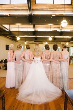 Beautiful bridal party: http://www.stylemepretty.com/2014/10/02/glamorous-tampa-wedding-sprinkled-with-sequins/ | Photography: Marissa Moss - http://www.marissa-moss.com/