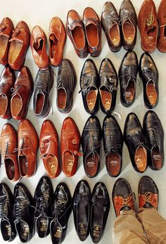 Shoes! The ladies love them for ourselves, but also check out a man's attire from head to toe. Shoes are important to us whether on our feet or yours.