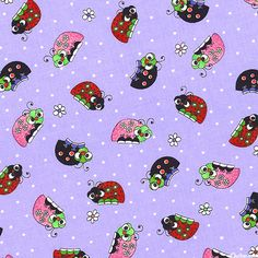 Lazy Little Ladybugs - Garden Naptime - Quilt Fabrics from www.eQuilter.com
