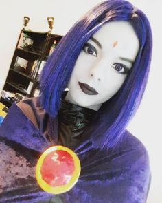 Character: Raven / From: DC Comics 'Teen Titans' / Cosplayer: Blossom of Faelivrin (aka Jasmin Skellington)
