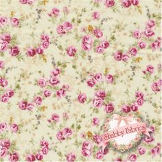 Kilala Antique Roses QKY201205-13C by QH Textiles: Kilala Antique Roses is a floral collection by QH Textiles. 100% cotton. This fabric features small roses on a cream background.