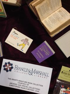 Martin Library of the Science's current exhibit features the Helen D. and William E. Krantz '37 Miniature Book Collection.