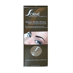 Sorme Always Perfect Brows Shaping Kit  Dark Brown >>> Details can be found by clicking on the image.