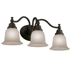 Hampton Bay 3-Light Oil Rubbed Bronze Vanity Light Bathroom Lighting ...