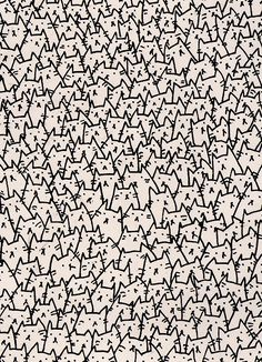 kitten rain | A Lot of Cats Print