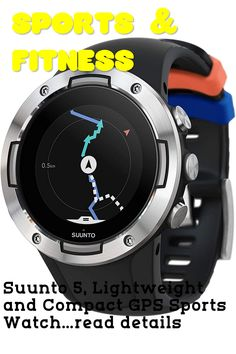 (This is an affiliate pin) Suunto 5, Lightweight and Compact GPS Sports Watch with 24/7, Activity Tracking and Wrist-Based Heart Rate