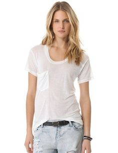 0292a13cd907 Always in search for the perfect white tee! Love this round up: 13 Perfect