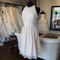 Looking for the perfect rehearsal or reception dress? We love this full lace shortie from the @dessygroup! Also available in ivory. #alllace #dessygroup #nashville #nashvilletn #nashvillebride #nashvillewedding #franklintn #coolsprings #southernbride #southernwedding