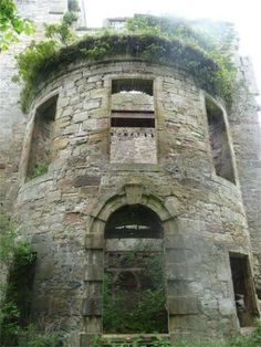 """Cavers Castle, Roxburghshire, Scotland is for sale! Built in the 13th century, the castle belonged to the Balliol family but became the seat of the powerful """"Black"""" Douglas Clan in the 15th century. Now in ruins, the sale price is over 300,000 euros."""