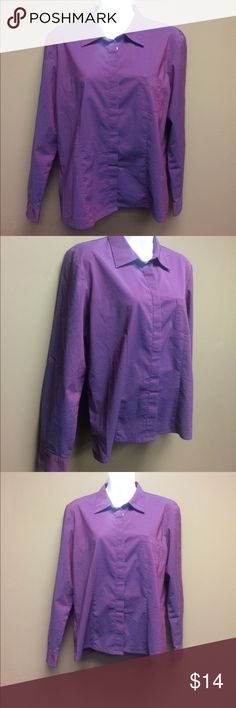 Style & Co Stretch Purple Button Down Shirt, 10P Style & Co Stretch Purple Button Down Shirt, 10P. Like new! I'm fairly certain it's NWT. I can't remember ever wearing it. Style & Co Tops Button Down Shirts