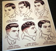 1920's Gentlemen's Hairstyle Guide by Quyen Dinh
