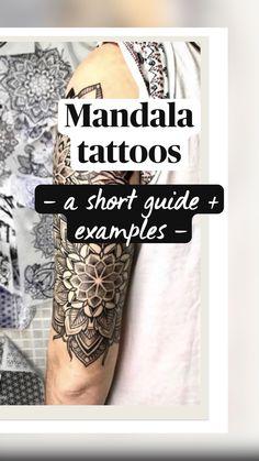 Lotus Mandala Tattoo, Mandala Tattoo Sleeve, Mandala Flower Tattoos, Lotus Tattoo Design, Tattoo Designs Wrist, Mandala Drawing, Flower Mandala, Cute Tattoos For Women, Tattoos For Women Half Sleeve