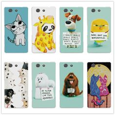 "Cute animal Art Painted For Sony Xperia Z3 Compact Z3 Mini M55W Case Cover 5.2"" Hard Plastic Bear funda For Sony Z3 Compact+Gift"