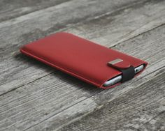Motorola Moto X Play Red Cover Case With Magnetic Flap. by HAPPER