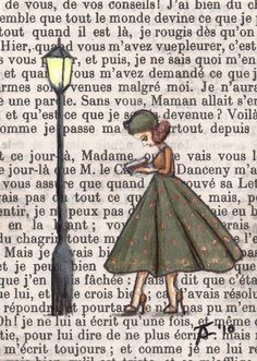 Drawing on old book pages Book Page Art, Book Pages, Book Art, Altered Books, Altered Art, Illustration Mode, Illustrations, Painted Books, Hand Painted
