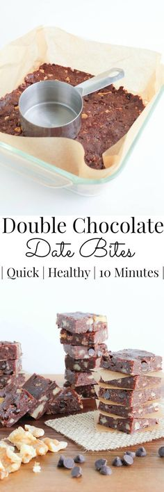 Quick and easy to pull together, these Double Chocolate Date Bites make a perfect grab and go snack. | Vanilla And Bean