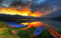 Phewa Lake Sunset - Pokhara, Nepal by MikeBehnken, via Flickr