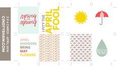 FREEBIE: 3X4 PROJECT LIFE CARDS - APRIL 2016 — Cindy Y. Shaw