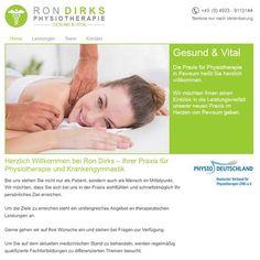 Physiotherapie Ron Dirks  In der Physiotherapiepraxis von Ron Dirks in Pewsum stehen Sie nicht nur als Patient, sondern als Mensch im Mittelpunkt.  Auf der Homepage gibt Ron Dirks Ihnen einen Einblick in die Leistungsvielfalt der neu eröffneten, modernen Physiotherapiepraxis.  Schauen Sie gerne einmal online vorbei, informieren sich ganz in Ruhe über die Leistungen und vor allem bleiben Sie Gesund & Vital.    Homepage: www.physiotherapie-dirks.de  #deich8 #cms #design #emden #joomla Flyers, Fitness, Design, Health, Ruffles, Leaflets