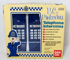 Awesome 1980s technology... (ahem) Vintage Telephone Toy 1989 BBC TV Themed PC Pinkerton by keepsies, £15.00