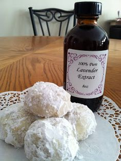 ONE AT A TIME ;) Lavender Tea Cakes - finally something else to use my lavendar extract for! Lavender Extract, Lavender Tea, Cookie Desserts, Cookie Recipes, Dessert Recipes, Cookie Ideas, Yummy Recipes, Culinary Lavender, Lavender Recipes