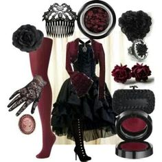 Very nice ! Victorian gothic outfit...  I would SO wear this!!!!
