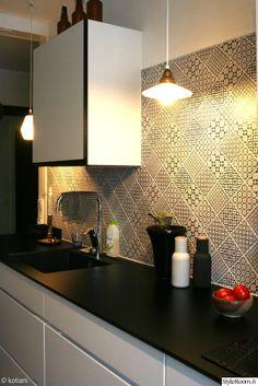 Kvik. Tiles. Wall Lights, Ceiling Lights, Tiles, Kitchen Inspiration, Kitchen Ideas, Flooring, Kitchens, Wallpaper, Home Decor