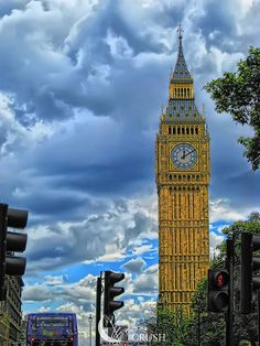 Storm clouds over Big Ben,  London