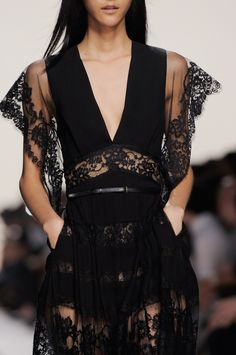"darkclothes: "" girlannachronism: "" Elie Saab spring 2014 rtw details "" black clothes """
