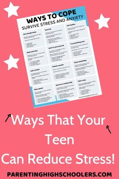 I have reached out to my blogging friends to find the best advice that they have for our stressed out teens today and any other time. Here is the advice that we have all shared. Download the FREE chart with strategies!