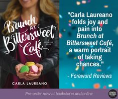 I love it when reviewers work food and cooking language into their reviews! Here's a little tease from Foreword Reviews. You can pre-order the paperback, e-book and audio versions of Brunch at Bittersweet Cafe. Just a little more than a month until release!  #book #review #preorder #bookreview #comingsoon