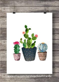 Veggie vibes review free coupon code youtube inspirations cacti art print printable art watercolor cactus hand painted watercolor botanical decor printable wall art watercolor fandeluxe Image collections