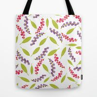 Tote Bag featuring Berries and Leaves One by Robin Gayl