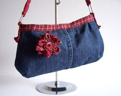 denim bags from old blue jeans | ... name of the cool Etsy shop that creates one-of-a-kind blue denim bags