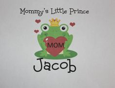 Personalized boy Mommy's Little Prince onesie or by PolkaDautz, $16.00