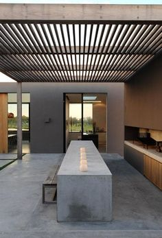 outdoor dining room + backyard
