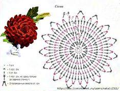 Crochet Flower diagram, pattern, model, chart, motif