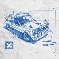 Car Design Sketch, Car Sketch, Cool Car Drawings, Easy Drawings, Animal Sketches, Art Sketches, Industrial Design Sketch, Car Illustration, Cyberpunk Art