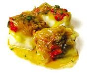Bacalao a los dos vinos Fun Drinks, Fish Recipes, Baked Potato, Cod, Good Food, Food And Drink, Menu, Cooking, Ethnic Recipes