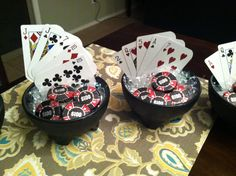 Casino Party Decor/Chocolate casino  chips for the tables