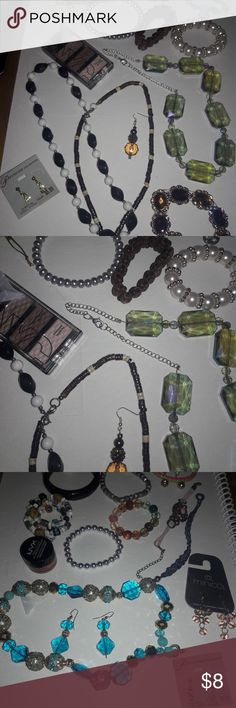 Jewelry LOT Bracelet Statement Necklaces Earrings All in good preowned condition....necklaces, 10+ Prs earrings, pink monkey watch (needs a battery), bracelets... Jewelry Necklaces