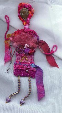 pin-woven doll by Lynn Smythe.