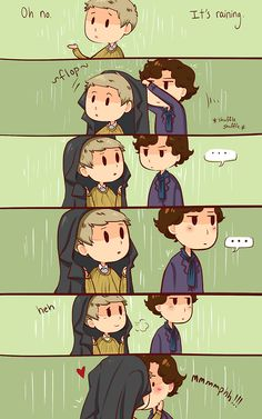 That's what umbrellas are for, Sherlock.