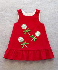 Look what I found on #zulily! Katie Bug Casuals Red Lollipop Jumper - Toddler & Girls by Katie Bug Casuals #zulilyfinds