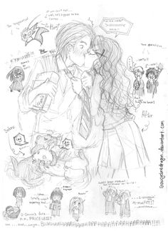 Dramione - Mindless Doodles by snowcyclonedragon on DeviantArt